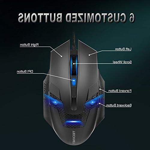 TeckNet Gryphon Illuminated Gaming and Mouse Design,