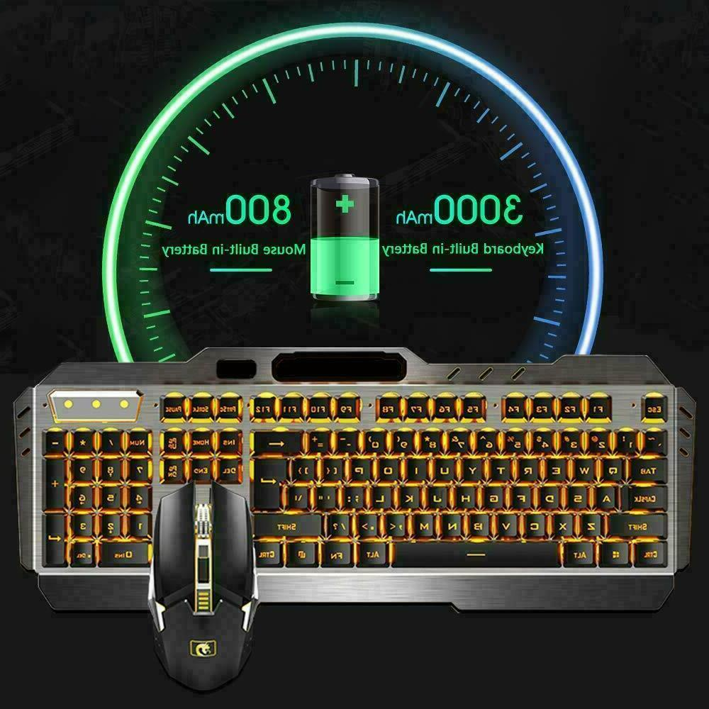 US For PC Rechargeab Wireless Gaming Keyboard and Mouse Sets
