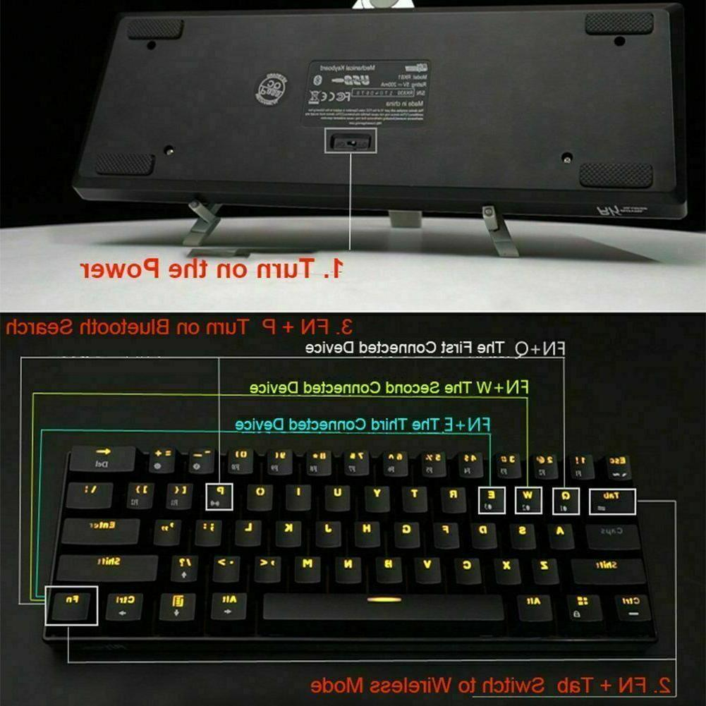 US RK61 Wired Backlight Gaming
