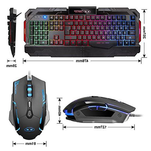 USB Keyboard Combo, GK806 Rainbow Mouse Mouse and Key Computer Keyboard with Wrist