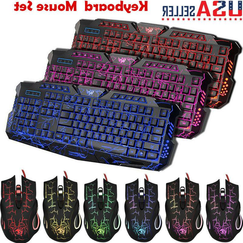 2.4G Gaming Keyboard and Mouse Set LED Multi-Colored Changin
