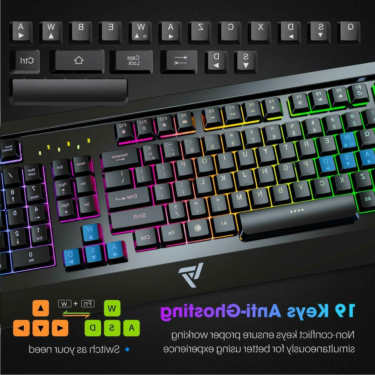 VicTsing Keyboard Wired Keyboard,All-Metal Spill-Resistant Keyb