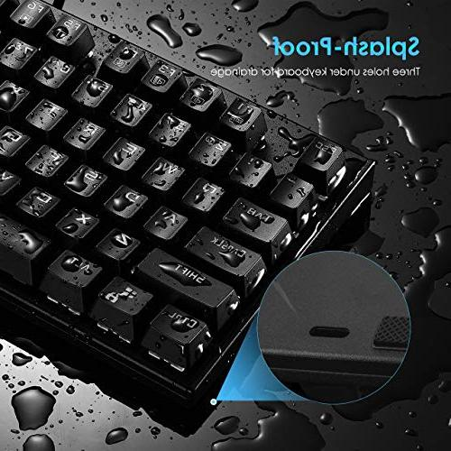 VicTsing Mechanical Wired Gaming keyboard with Blue Switches, 12 Multimedia Waterproof Laptop-Black