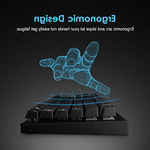 VicTsing Keyboard, Gaming with Blue Switches, 12 Multimedia Keyboard