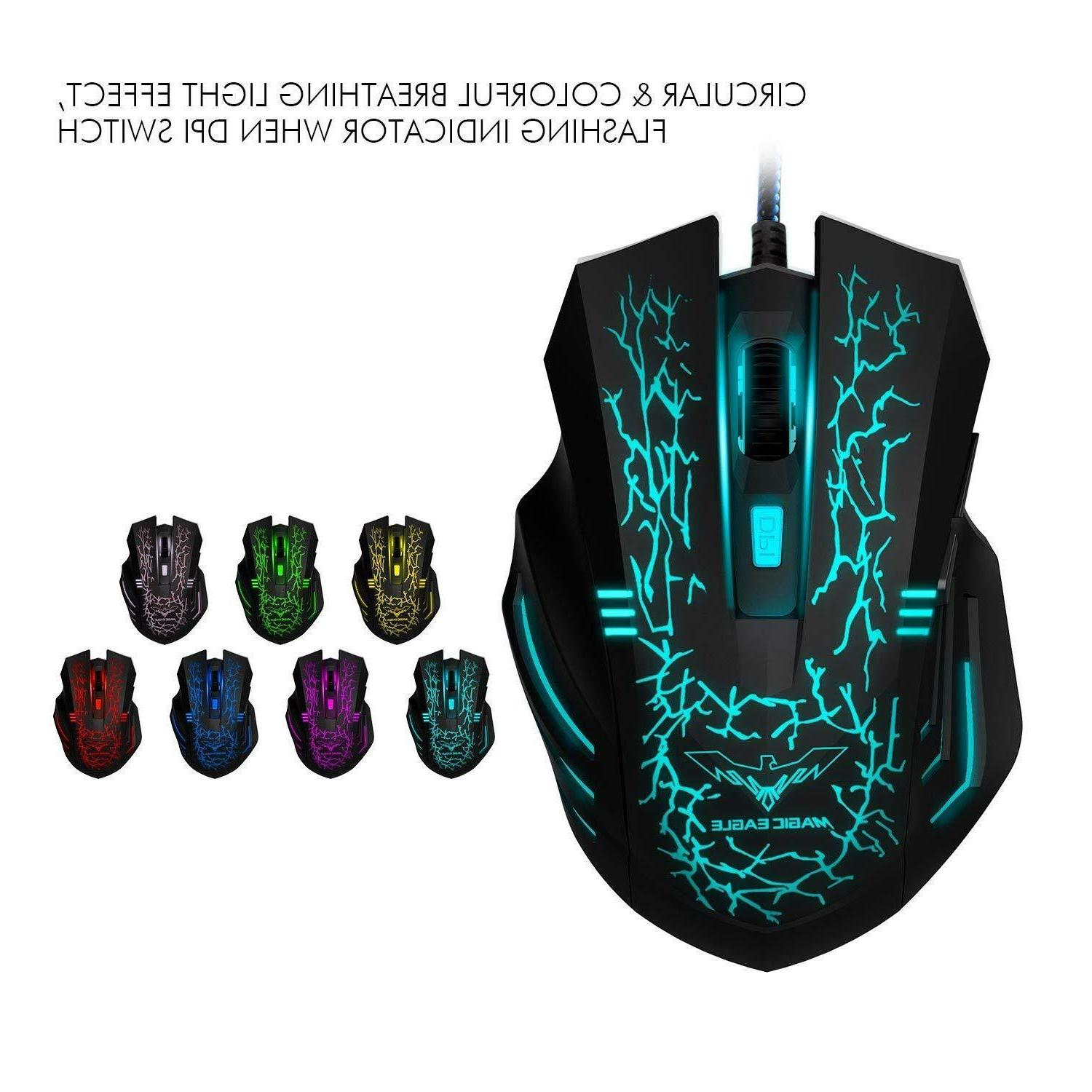 Wired Gaming Keyboard Mouse Kit Illuminated for XBOX