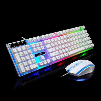 Wired Backlit Gaming Keyboard + Mouse Set For PC Laptop