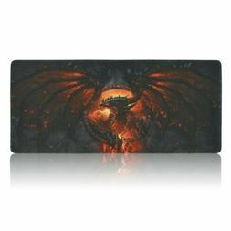 Large XXL Gaming Mouse Pad Fire Dragon Desk Mat Gamer Comput