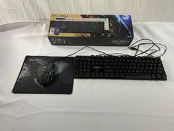 CHONCHOW LED Backlit Wired Gaming Keyboard and Mouse R8 Seri