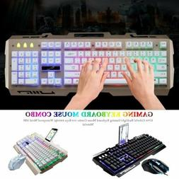 Gaming keyboard and Mouse Set Combo Backlight For Computer P