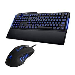 AZIO Levetron LED Backlit Gaming Keyboard DPI Adjustment Gam