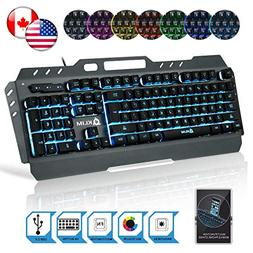KLIM Lightning Gaming Keyboard - Semi Mechanical - Led 7 Col