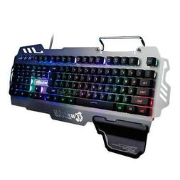 7pin LOL Gamer Gaming Keyboard Mechanical Backlight Wired LE