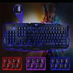 M-200 Bilingual 3 Colors Backlight Wired Gaming Keyboard Fir