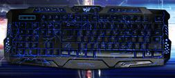M-200 3 Colors Backlight Wired Gaming Keyboard Fire Cracks U
