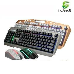 Mechanical Feel Wired Backlight Gaming Keyboard And Mouse Se