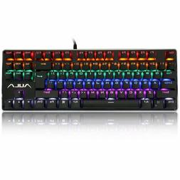 AULA F2012 Mechanical Gaming Keyboard, Water Resistant Multi