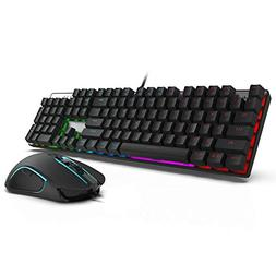 MOTOSPEED Mechanical Keyboard with Blue Red Switches,104-Key