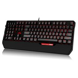 Rii Mechanical Keyboard, LED Backlit Gaming Keyboard USB Wir