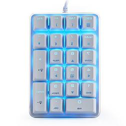 Mechanical Numeric Keypad GATERON Brown Switch Wired Ice Blu