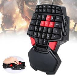Mini Gaming Keyboard Game Keypad One Single Hand Backlit for