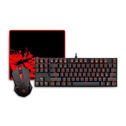 Zmsdt Mouse Pad Combination 87 Key LED Backlit Mechanical Ga