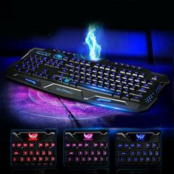 Multimedia PC Gaming Keyboard Fast 3 Colors Styling Accessor