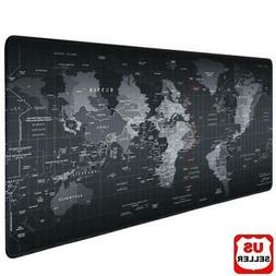 Wide Glorious XXL Extended Gaming Mouse Mat//Pad Black Cloth Mo Large XLarge