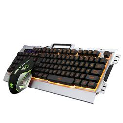 New Gaming Keyboard and Mouse Set LED Multi-Colored Changing