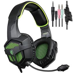 New Xbox one PS4 PC Headphone with Mic Volume Control, SADES