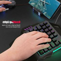 One Single Hand with Backlit Mini Gaming Keyboard Game RGB K