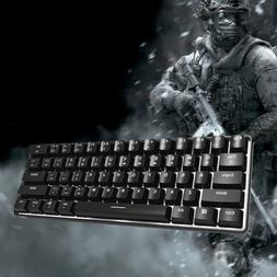 Portable Backlight Wired Mechanical Gaming Keyboard GK61 61