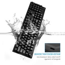 Professional Mechanical Gaming Keyboard 104 Keys Blue Switch