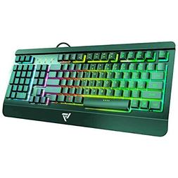 VicTsing Rainbow LED Backlit Gaming Keyboard Wired, Anti-gho