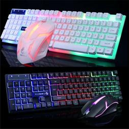 Computer Desktop Gaming Keyboard and Mouse Mechanical Feel L