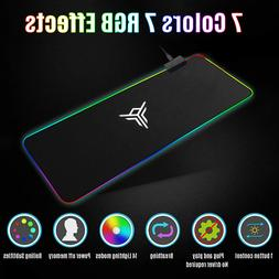 RGB Extended Mouse Pad LED Gaming Keyboard Pad Mat Large Sof
