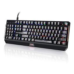 SIGNO RGB Gaming Keyboard Mechanical USB Wired Aluminum Body