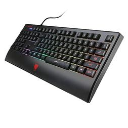 Redimp RGB LED Backlit Gaming Keyboard USB Wired Computer Ke