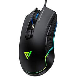 VicTsing Pro Gaming Mouse Wired, 16.8 Million Chroma RGB Bac