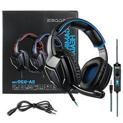 Stereo Gaming Headset PS4 Xbox One S, SADES SA920PLUS Noise