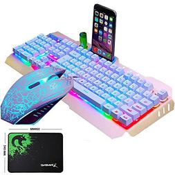 LexonElec@ Technology Keyboard Mouse Combo Gamer Wired Rainb