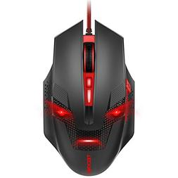 TeckNet Programmable Wired Optical Computer Gaming Mouse, Pr
