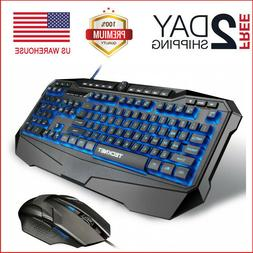 TeckNet Gaming Keyboard and Mouse Gryphon Pro LED iluminado
