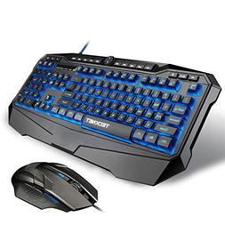 TeckNet Gryphon Pro LED Illuminated Programmable Gaming Keyb