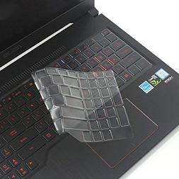 Leze Ultra Thin Keyboard Cover Skin for 15.6 ASUS FX503 FX504 Gaming Notebook TPU
