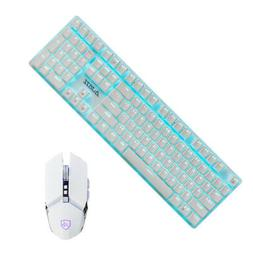Universal 108 Keys RGB Backlight Wired Gaming Keyboard and M