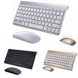 US USB 2.4GHZ Wireless Keyboard and Mouse Slim Combo Set for