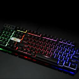 Usb Floating Gaming Rainbow Wired Computer Ducky Silent Cors