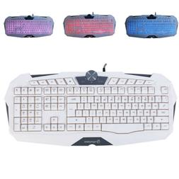 usb gaming wired keyboard game mouse led