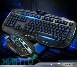 usb light gaming keyboard mouse