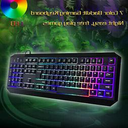 usb wired gaming keyboard illuminated light up